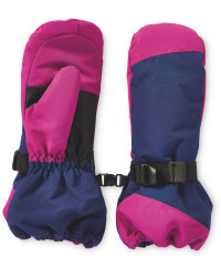 Children's Snowboard Mittens - Berry/Blue