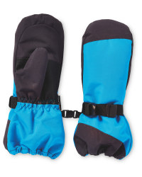 Children's Snowboard Mittens - Blue/Grey