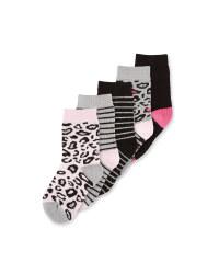 Children's Print Socks 5 Pack