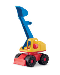 Children's Toy Digger - Yellow