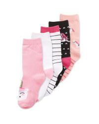 Children's Unicorn Socks 5 Pack