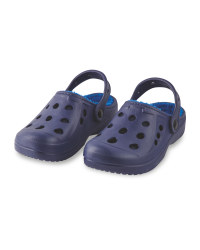 Children's Winter Clogs - Navy