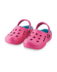 Children's Winter Clogs - Pink