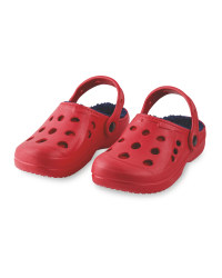 Children's Winter Clogs - Red