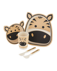 Children's Zebra Bamboo Dinner Set