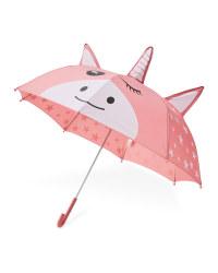 Children's 3D Unicorn Umbrella