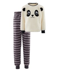 Children's Fleece Panda Pyjama Set