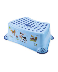 Childrens Blue Farm Step Stool