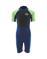 Childrens Shorty Wetsuit Navy/Green