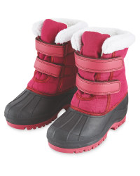 Childrens Snow Boots Pink