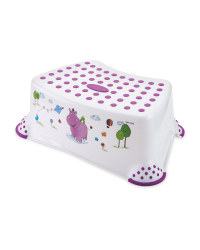 Childrens White Hippo Step Stool