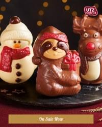 Christmas Chocolate Figurines