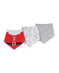 Santa Little Star Dribble Bibs