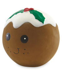 Christmas Pudding Squeaky Dog Toy