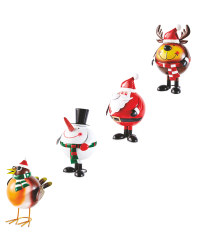 Christmas Wobble Figures 4 Pack