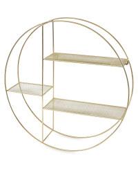 Kirkton House Circle Wire Shelf - Gold