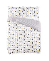 Grey Circle Double Duvet Set