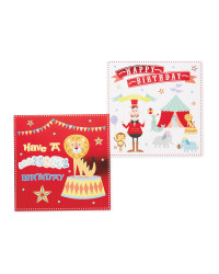 Circus Birthday Cards 10-Pack