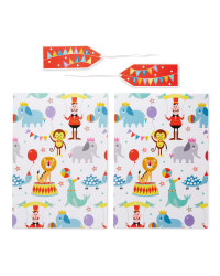Circus Gift Wrap & Tags 2-Pack