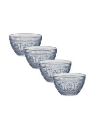 Embossed Clear Desert Bowls 4 Pack