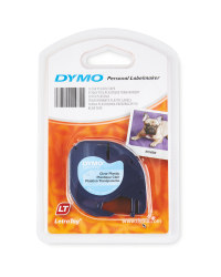 Clear Plastic Dymo Labels