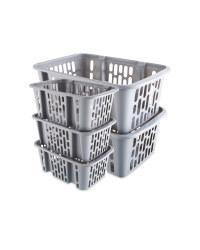 Clear Storage Basket Bundle
