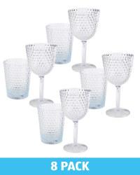 Clear Wine Glass & Tumbler Set