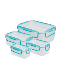 Blue Clip 'N' Close Rectangle Box