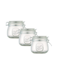 Clip Lid Preserving Jars 3 - Pack