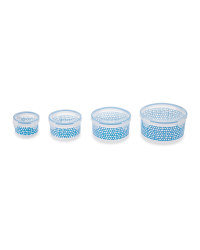 Crofton Round Container Set 4-Pack - Blue