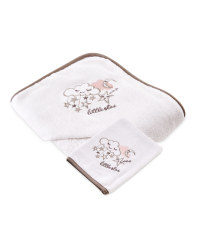 Cloud Hooded Towel With Wash Mitt