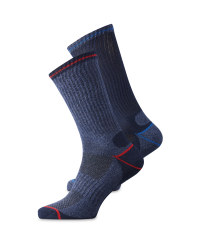 Cobalt, Red & Navy Socks 2 Pack