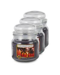 Coconut Noir Jar Candle 3 Pack