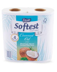 Coconut Oil 4-Pack Toilet Tissue
