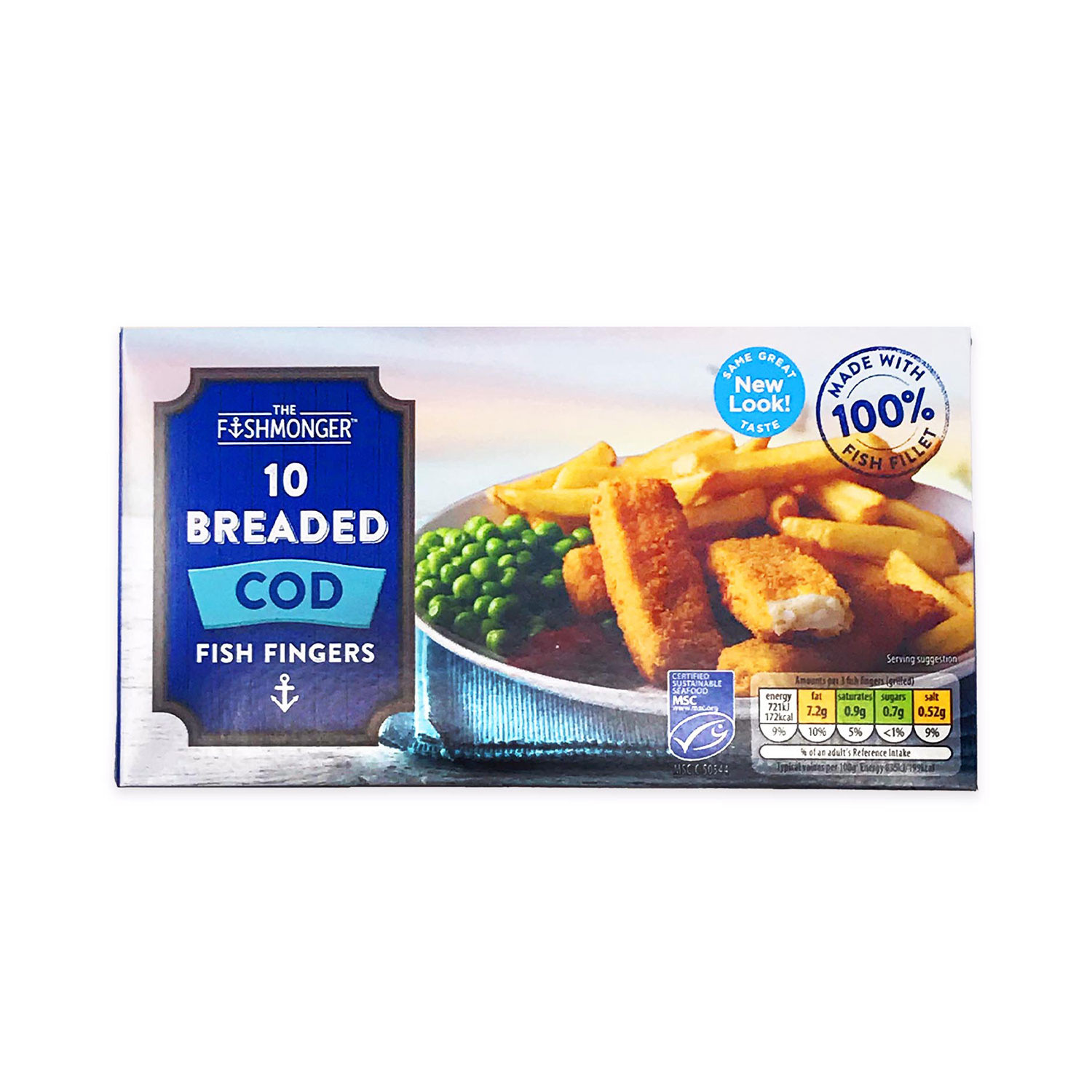 10 Breaded Cod Fish Fingers