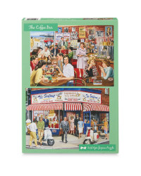 Coffee Bar 500 Piece Puzzle 2 Pack