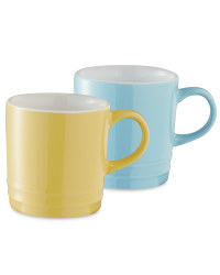 Coffee Cups 2 Pack - Almond/Blue