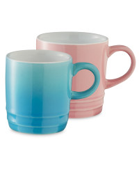 Coffee Cups 2 Pack - Bright Pink/Bright Blue