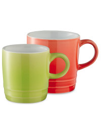 Coffee Cups 2 Pack - Lime/Red