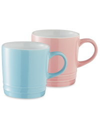 Coffee Cups 2 Pack - Pink/Blue