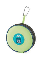 Pet Collection Collapsible Pet Bowl - Lime/Blue