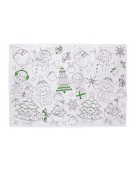 Colour Me In Placemats 2 Pack - Green