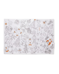 Colour Me In Placemats 2 Pack - Orange