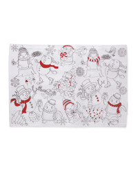 Colour Me In Placemats 2 Pack - Red