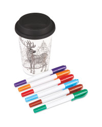 Colour Your Own Stag Travel Mug