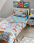 Comic Single Printed Duvet Set - Blue