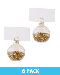 Confetti Placecard Holders 6 Pack - Gold