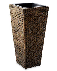 Conical Water Hyacinth Planter - Brown