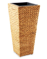 Conical Water Hyacinth Planter - Natural