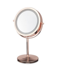 Visage Contemporary Table Mirror - Rose Gold